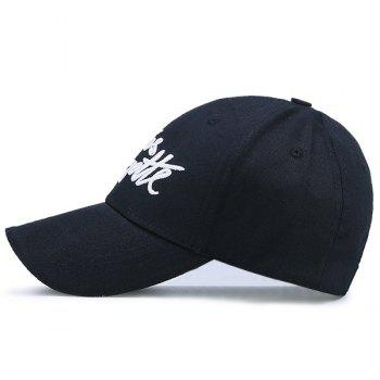 Embroidery Letters Baseball Hat - BLACK