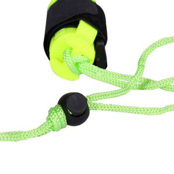 Diving Waterproof Flashlight with Wristband -  NEON GREEN