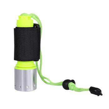 Diving Waterproof Flashlight with Wristband - NEON GREEN NEON GREEN