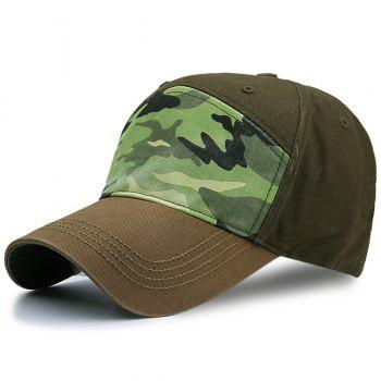 Camouflage Spliced Baseball Hat