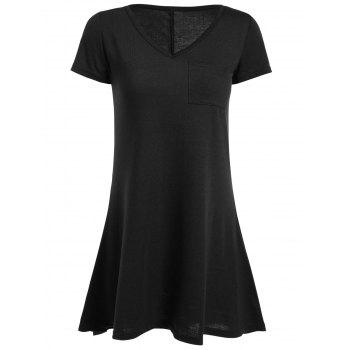 Short Sleeve High Low Mini Dress