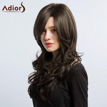 Adiors Long Side Part Hightlight Layered Wavy Synthetic Wig
