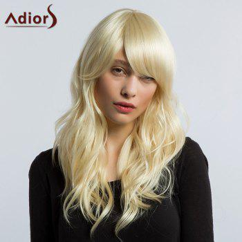 Adiors Long Beach Wave Side Bang Shaggy Synthetic Wig
