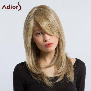 Adiors Silky Long Layered Side Bang Tail Adduction Synthetic Wig