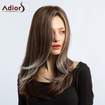 Adiors Side Part Silky Straight Long Hightlight Synthetic Wig