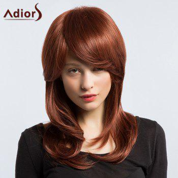 Adiors Long Oblique Bang Silky Slightly Curled Synthetic Wig