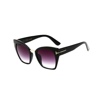 Metallic Reflective Anti UV Square Mirrored Sunglasses