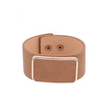Artificial Leather Alloy Embellished Bracelet