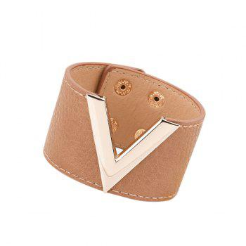 Artificial Leather V Shaped Bracelet