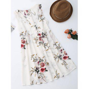 Sleevelss Chiffon Floral Mini Dress