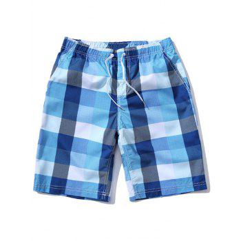Checked Loose Fitting Board Shorts