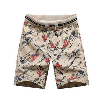 Allover Printed Beach Shorts