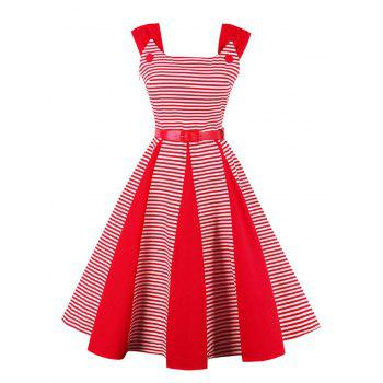 Striped Vintage Swing Dress