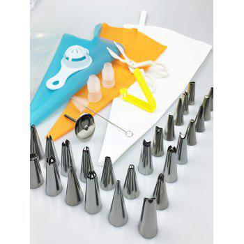 DIY Cake Decorating Squeeze Cream Tools Stainless Steel Piping Nozzle Set