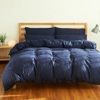 4Pcs Suit Polyester Fiber Bedding Sets - CADETBLUE CADETBLUE