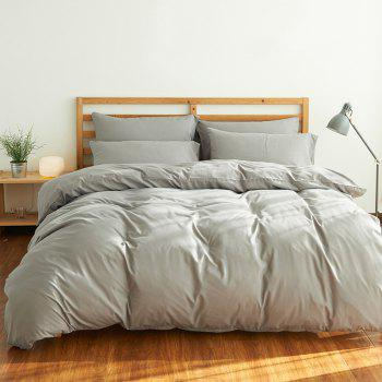 4Pcs Suit Polyester Fiber Bedding Sets - GRAY FULL