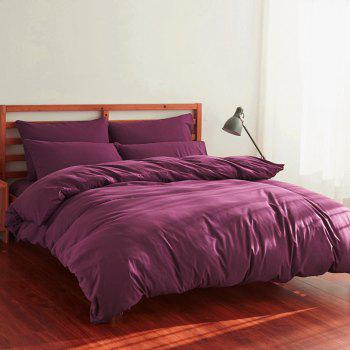 4Pcs Suit Polyester Fiber Bedding Sets - PURPLISH RED PURPLISH RED