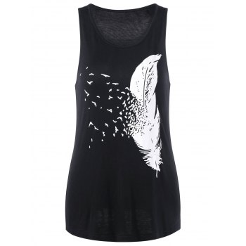 Feather Printed Tank Top