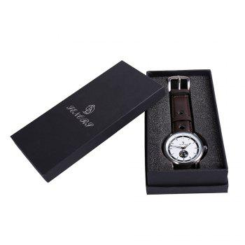 Faux Leather Strap Wrist Quartz Watch
