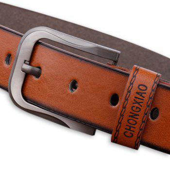 Cowboy Style Sewing Thread Wide Belt - BROWN