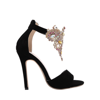 Gorgeous Stiletto Heel and Colorful Rhinestone Design Sandals For Women
