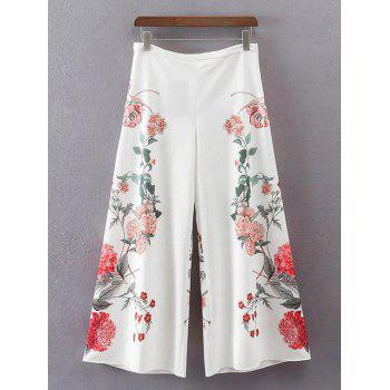 Floral High Waisted Wide Leg Pants