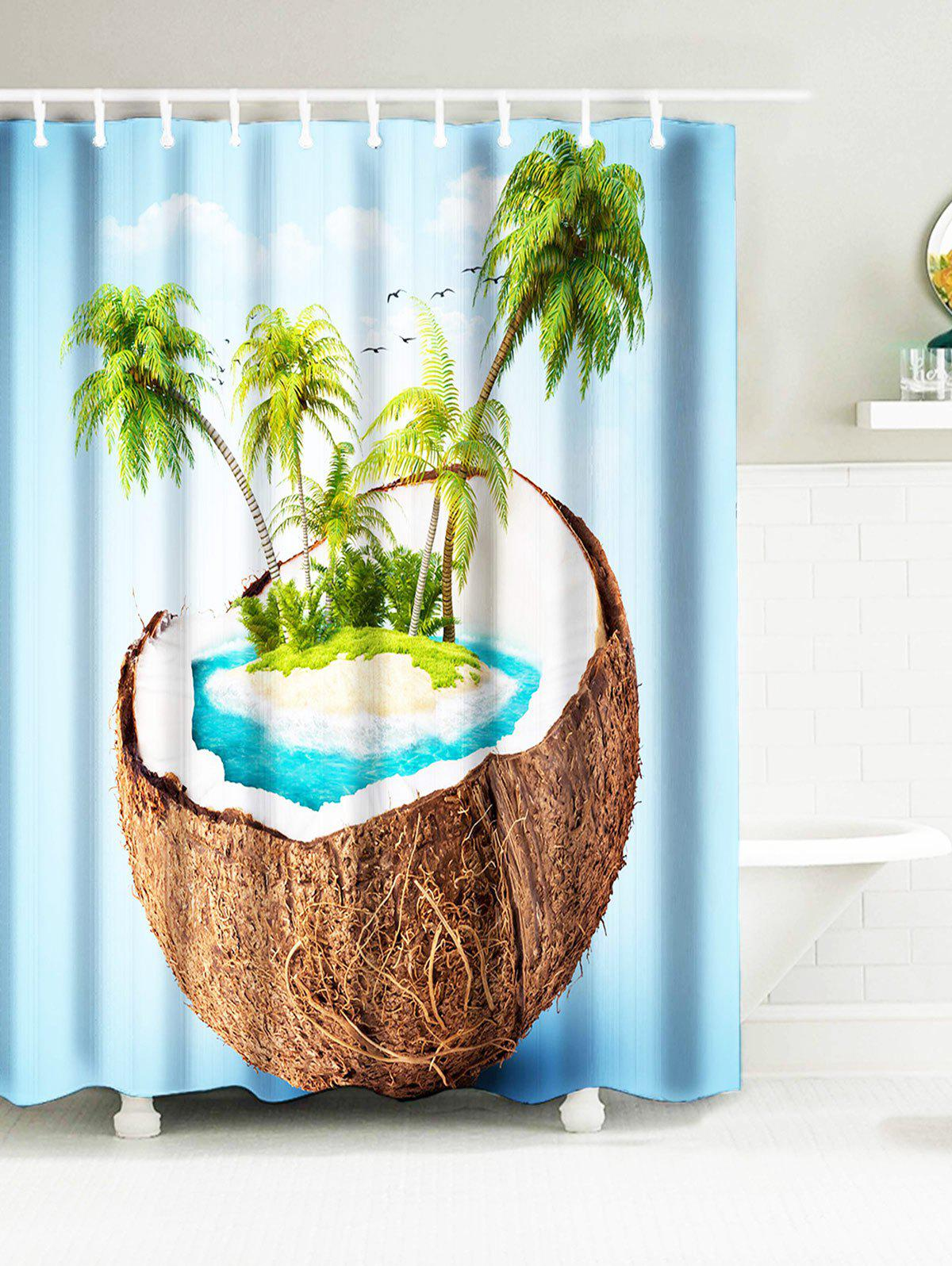 Tropical Coconut Tree Island Water Resistant Fabric Bath Curtains usenda manufacture oem 55 inch lcd big screen video wall with 3 5mm bezel for advertising control room