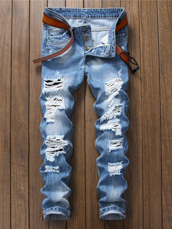 Slim Fit Distressed Jeans футболка wearcraft premium slim fit printio шварц