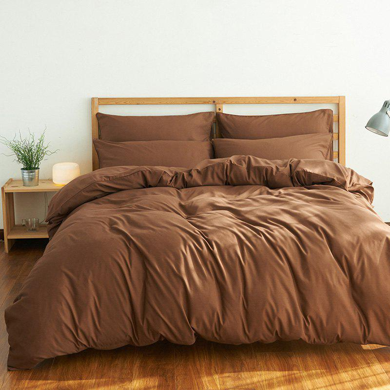 4Pcs Suit Polyester Fiber Bedding Sets - COFFEE QUEEN