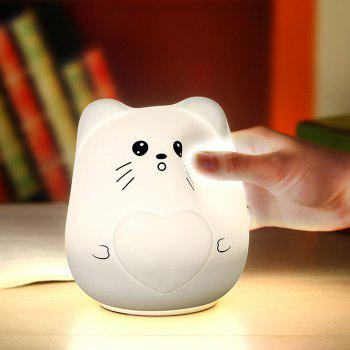 Color Change Cartoon Cat Silicone Night Light