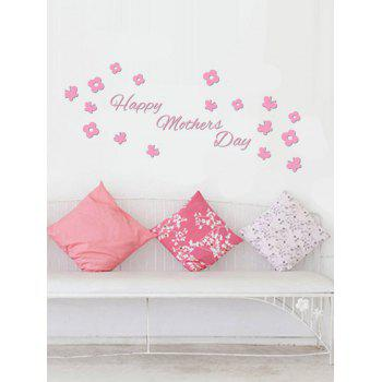 Butterfly Flower Happy Mother's Day Vinyl Wall Sticker