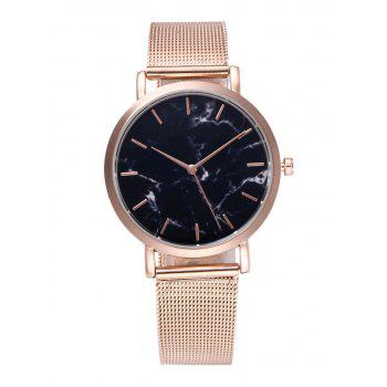 Steel Mesh Strap Marble Texture Watch