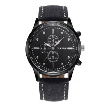 Faux Leather Quartz Wrist Watch