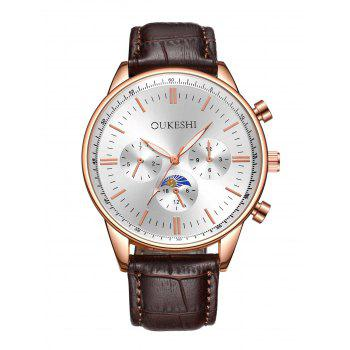 Faux Leather Strap Wrist Watch