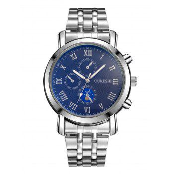 Roman Numeral Alloy Strap Quartz Watch