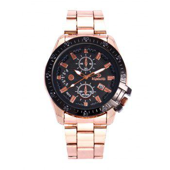 Steel Strap Date Quartz Analog Watch