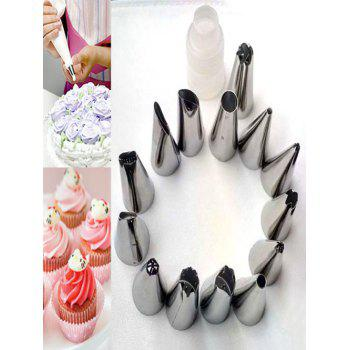 Squeeze Cream DIY Cake Tool Stainless Steel Pastry Piping Nozzle Set