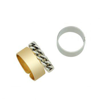 Hollowed Open Rings Set