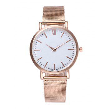 Roman Numeral Mesh Quartz Watch
