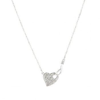 Link Chain Hollow Heart Shape Necklace