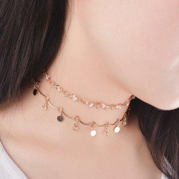 Artificial Crystal Metal Round Embellished Necklace