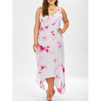 Asymmetric Tie Dye Plus Size Dress