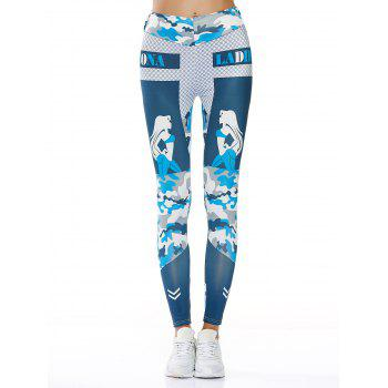 High Waisted Lady Camouflage Print Workout Leggings