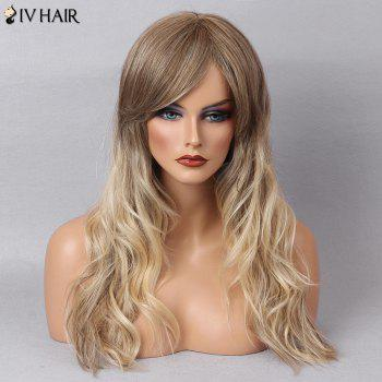 Siv Hair Natural Wave Long Colormix Inclined Bang Human Hair Wig