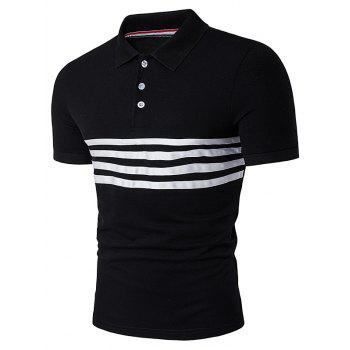 Stripe Selvedge Embellished Polo T-Shirt