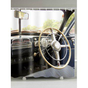 Vintage Car Bathroom Shower Curtain