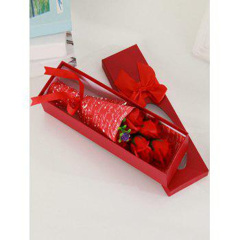 5 Pcs Creative Handmade Soap Rose Mother's Day Gift Artificial Flowers - RED