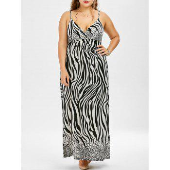 Zebra Print Plus Size Maxi Dress