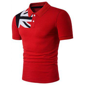 Color Block Flag Panel Polo T-Shirt