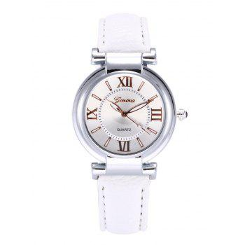 Faux Leather Roman Numeral Wrist Watch